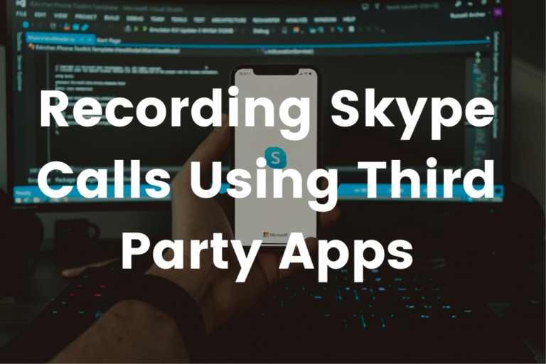 record skype calls using third party apps