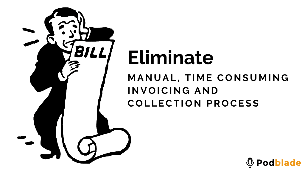 Whitelabel podcast editing service auto invoicing system